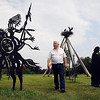 John Cross<br /> Arnie Lillo's yard is filled with steel silhouette cut-outs ranging from the Jesse James Gang to animals to Native Americans that he constructed in his shop.