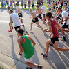 John Cross<br /> It was off to the races for several hundred runners participating in the St.  Peter Freedom Fun Run Thursday as part of that community's Old Fashioned Fourth of July Celebration.