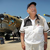 John Cross<br /> Retired pharmacist Charles Frost was a flight instructor during World War II training pilots to fly B-17 Flying Fortresses similar to the one that flew into the Mankato Regional Airport on Monday as part of The Collings Foundations Wings of Freedome Tour.