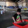 John Cross<br /> Alexis Hi plays in a sandbox in the former Mankato city bus garage that will become the new Southern Minnesota Children's Museum.