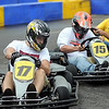 Racers mix it up with the go-karts at the running of the sevent annual MRCI Grand Prix, Saturday.