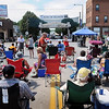 John Cross<br /> Music and conversation replaced the sounds of traffic Saturday as the 200 block of Belgrade Avenue was closed off for Blues on Belgrade.