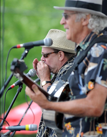 Pat Christman <br /> Curtis Blake and Don Scott play during Saturday's Blues on Belgrade in North Mankato.
