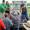 John Cross<br /> Old farm implement parts are put on the auction block Saturday.