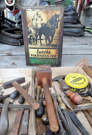 John Cross<br /> Items and tools dating back to a time when farming was done with horses were some of the antiques that were sold on Saturday to highest bidders.