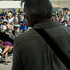 Blues enthusiasts fill Belgrade Avenue to listen to the Murphy Brothers band during the 6th annual Blues on Belgrade on Saturday. The event, which originally was organized to call attention to the North Mankato business area, featured nationally known blues artist Paul Cebar as the headline act. Photo by John Cross