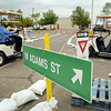 Minnesota Department of Transportation personnel drive people attending a Roundabout Fair on Thursday through a mock-up of the Highway 22-Adams Street roundabout to familiarize them with the procedure. . The real McCoy will open today at 6 p.m Photo by John Cross