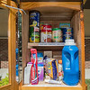 "A Blessings Box outside of Bethlehem Lutheran Church contains pantry foods and personal hygiene products. A passage in the box says, ""Take what you need - Give what you can - Above all, be blessed"". Photo by Jackson Forderer"