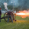 The New Ulm Battery fires off a cannon outside of Turner Hall on Tuesday. Residents organized a centennial remembrance celebration to mark New Ulm's role in WWI. Photo by Jackson Forderer
