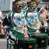 The SuFuDu drum corps plays for the crowd at the North Mankato Fun Days parade Saturday.