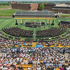 Gustavus Adolphus held its commencement ceremony at Hollingsworth Field on Saturday afternoon. Photo by Jackson Forderer