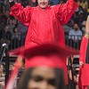 A graduate does his best Richard Nixon impression. Photo by Jackson Forderer