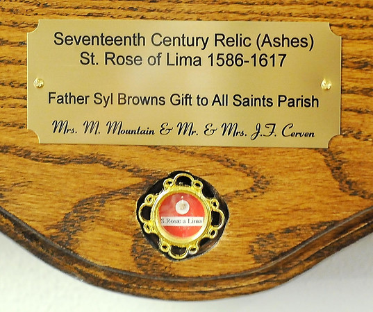 John Cross<br /> Ashes from Saint Rose of Lima