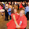 John Cross<br /> Dennis Carney and his dance partner, Myrna Connett, both of Savage, Minn., trip the light fantastic during a dance session of the 61st Minnesota State Square and Round Dance Convention. The three-day event  that is being held at the Verizon Wireless Center concludes at noon today.