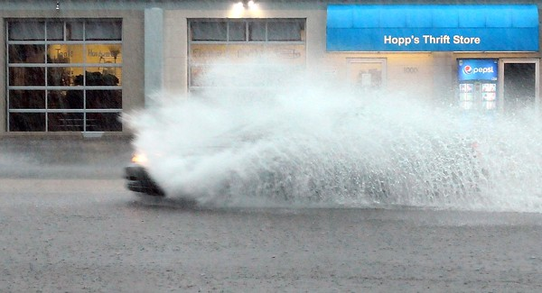 Storm causes flooding
