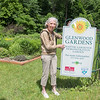 Barb Maher, a master gardener with Minnesota River Valley, at Glenwood Gardens, a community garden at the intersection of Glenwood Ave. and Locust Dr. in Mankato. Photo by Jackson Forderer