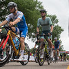 Bicyclists take off from the starting gate during the men's pro race of the North Star Grand Prix held in North Mankato on Saturday. Photo by Jackson Forderer