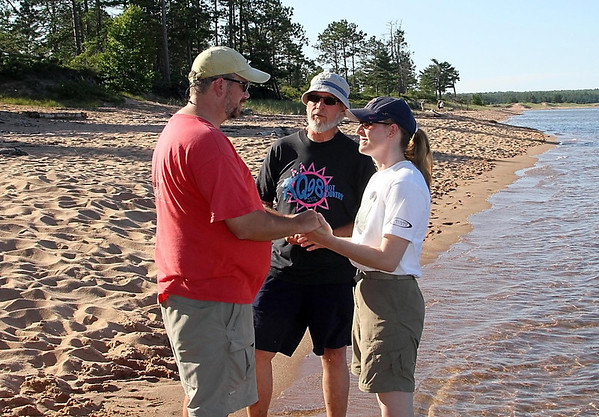 Lisa and I renewed our vows on the shores of Stockton Island in the Apostle Islands National Lakeshore in 2013. Photo by Kylie Beran