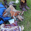 Rodeo gear waits for a competitor Friday. Photo by Pat Christman