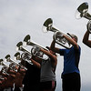 John Cross<br /> Members of the BlueStar Drum and Bugle Corps of LaCrosse, Wis., all were on the same page as they practiced Tuesday for Thunder of Drums event later that evening at Blakeslee Field.