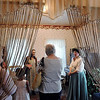 John Cross<br /> Kelly Reuter, dressed in period dress and serving as the personna of Betsy's mother, leads visitors on a tour of Maude Hart Lovelace's childhood home on Center Street during the Lincoln Park Neighborhood Home & Garden Tour Saturday.