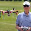 Pat Christman<br /> Dale Cordes of New Ulm flies his radio controlled helicopter, equipped with a camera, during a fly-in Saturday at North Mankato's Forsberg Field. The field is home to the North Mankato Electric Flyers radio controlled aircraft club.