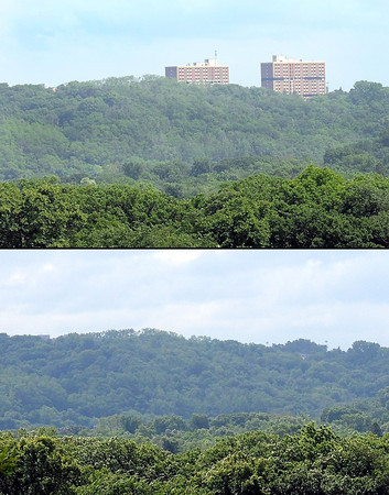 Pat Christman<br /> A before and after view from the Lookout Drive overlook shows how much Mankato's skyline has changed.