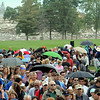 John Cross<br /> Gage Towers is just a pile of rubble as spectators file out of the Blakeslee Stadium area of Minnesota State University after the implosion of the former residence halls.