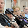 John Cross<br /> Members of the Lancers 77 woodwind section drill Monday during spat camp.