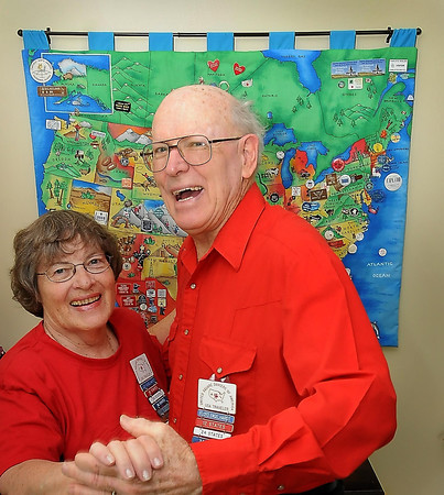 John Cross<br /> Square dancing enthusiasts Floyd and Judy Englehardt of Le Sueur are one of seven couples in the world who have danced in all 50 states.