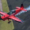 Jack Link's aerobatic pilot John Klatt and Free Press photographer Pat Christman fly over the Mankato Regional Airport Wednesday. Photo by Jackson Forderer