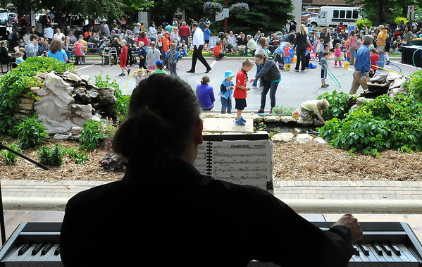 The Ben Marti Jazztet entertains an audience at Songs on the Lawn in front of the Intergovernmental Center on Thursday. This is the 11th year for the event which features music and food several weeks each summer. Photo by John Cross
