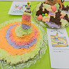 An entrant in the adult category, imitates the cover of Oh, The Places You'll Go! by Dr. Seuss, at the Edible Book Festival held at North Mankato's Taylor Library on Saturday. Photo by Jackson Forderer