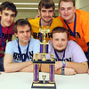 The St. Peter Brown knowledge bowl team (from left) Lance Willet, Caulen Lusty, Aaron Shoemaker, Jacob Erkel and Jed Skoog, won the regional senior high Knowledge Bowl tournament Wednesday. The team, along with teams from Mankato West, Minnesota Valley Lutheran, Blue Earth Area and Owatonna moves on to the State Knowledge Bowl touranment Apr. 11-12 in Brainerd.<br /> <br /> Pat Christman