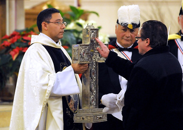 St. Peter and Paul's Catholic Church's Fr. Mariano Varela, an Argentinian native, shown here during a veneration of six martyrs of the Catholic church in January.