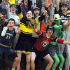 Pat Christman<br /> Mankato East girls basketball fans dressed in all manner of costumes during a recent game.