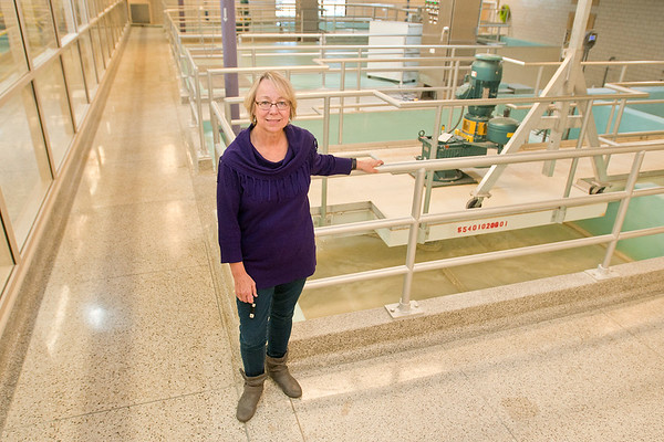 Mary Fralish is the Public Utilities Director for the City of Mankato. She has worked for the city for 42 years and has saved millions of gallons of water by using recycled water. Photo by Jackson Forderer