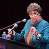 Susan Herman, national president of the American Civil Liberties Union, speaks to an audience at Minnesota State University on Wednesday evening. Photo by Jackson Forderer