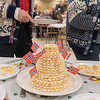 A stacked cake, or a kransekake in Norwegian, was one of the many desserts served at the Sons of Norway dinner held in the basement of the Bethlehem Lutheran Church on Tuesday. Photo by Jackson Forderer