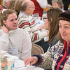 Elin Brenna Overeng (left) from Norway talks with Samantha Mitchell at a Sons of Norway dinner held at Bethlehem Lutheran Church on Tuesday. Photo by Jackson Forderer