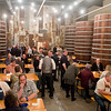 The new Starkeller Brewery and Taproom in New Ulm features 10 large oval cypress barrels used to ferment the sour beers that the brewery will feature. The back wall is made from parts of the old farm that was once the home of Ezra Arndt, one of the original Schell's pre-Prohibition coopers who made barrels for the brewery. Photo by Jackson Forderer