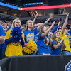 Waseca students chant airball after a De La Salle player completely missed the basket in the first half of Saturday's Class AAA championship game. Photo by Jackson Forderer