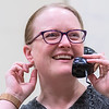 Angela Dugan, playing the part of Ethel Thayer in the play On Golden Pond, talks on the phone during a rehearsal of the play on Tuesday. Photo by Jackson Forderer