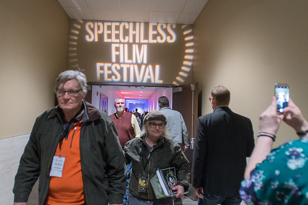 Festival goers at the Speechless Film Festival move between rooms in between screening sessions on Saturday at the Verizon Center. Photo by Jackson Forderer