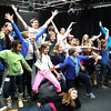 About 20 students had to think on their feet and get creative during an improv session Tuesday morning.