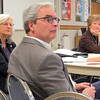 State Rep. Kathy Brynaert (left), Rep. Clark Johnson and Sen. Kathy Sheran hear comments and answer questions during a town hall meeting at South Central College in North Mankato Saturday.
