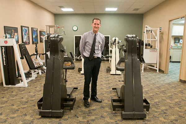 Jon Ellingworth, the director of physical therapy at the Orthopaedic and Fracture Clinic. Photo by Jackson Forderer