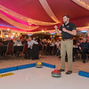 U.S. Olympic gold medal winner and Mapleton native John Landsteiner gives a brief presentation on curling at the United Way Men's Night held at the Kato Entertainment Center on Thursday evening. Photo by Jackson Forderer