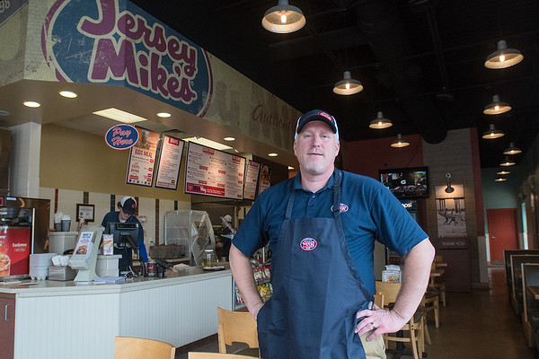 Chris Kunst has managed operations at the two Jersey Mike's locations since they opened in 2011 and he, along with his wife, Chantal Heetland, now own the sub shops, with Mike Nolan continuing as a part owner. Photo by Jackson Forderer