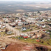 File photo<br /> A March 30, 1998 aerial view of Comfrey shows that none of its estimated 450 residents were untouched by the tornado that swept across town a day earlier.